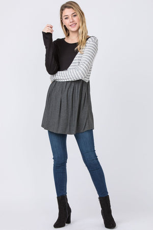 Long Sleeve Color Block Tunic