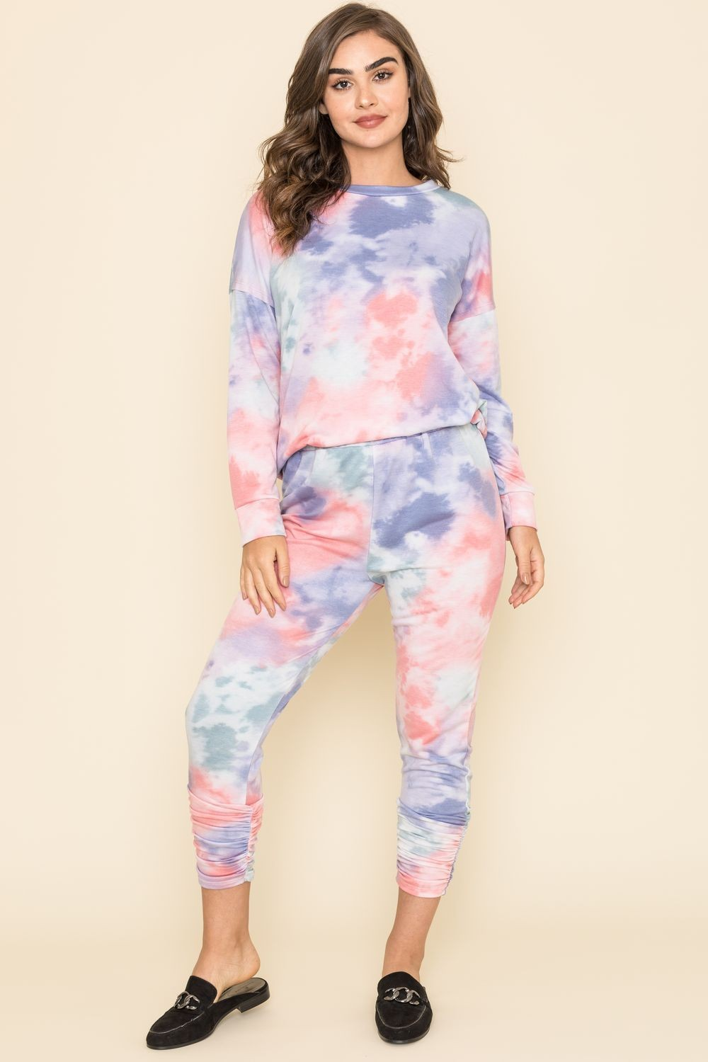 Cotton Candy Tie Dye Top & Jogger Set