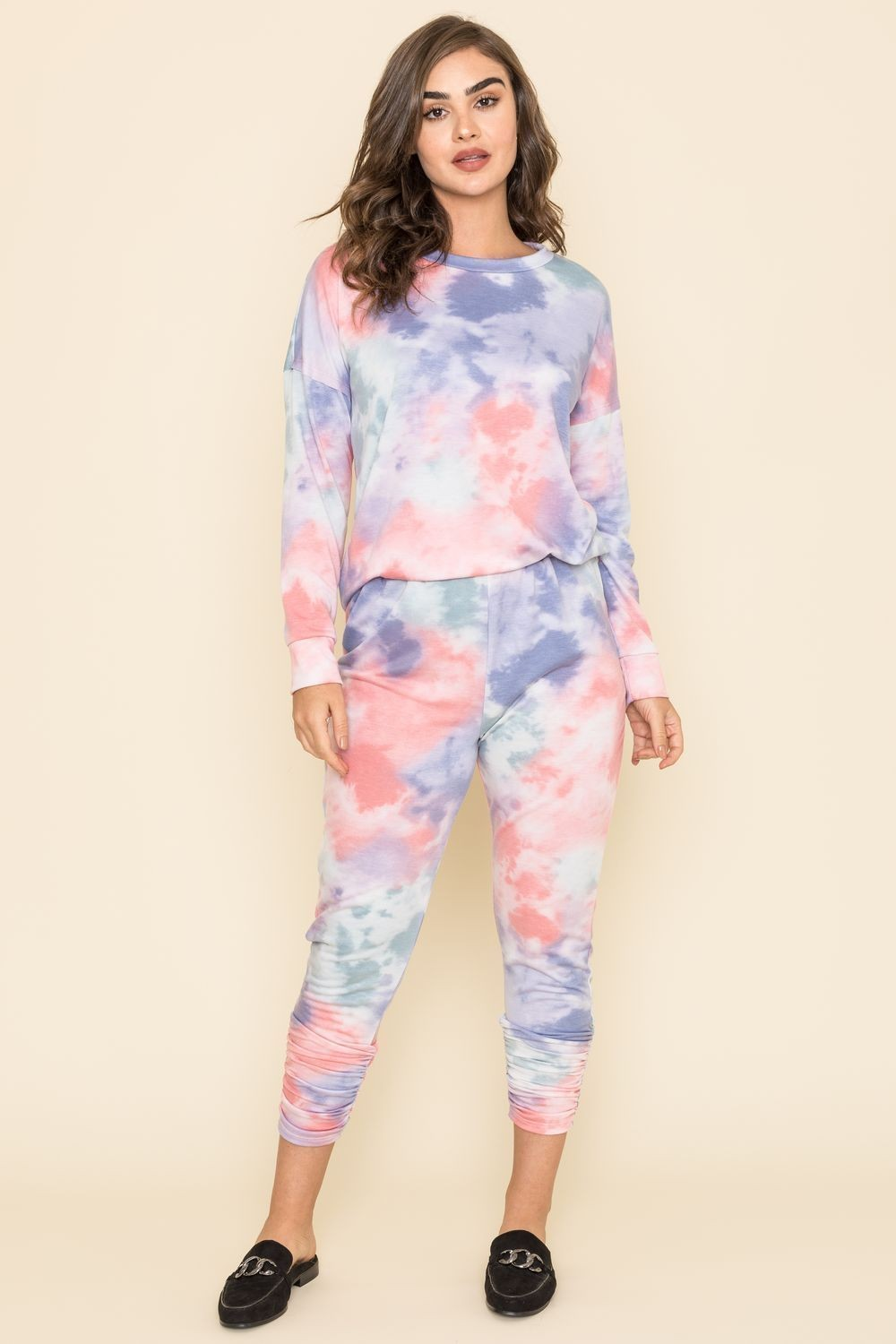 Cotton Candy Tie Dye Top & Jogger Set_Plus