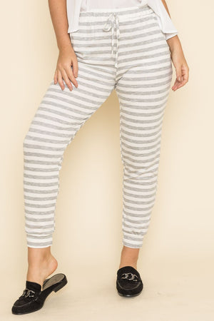 Grey Stripe Jogger_Plus