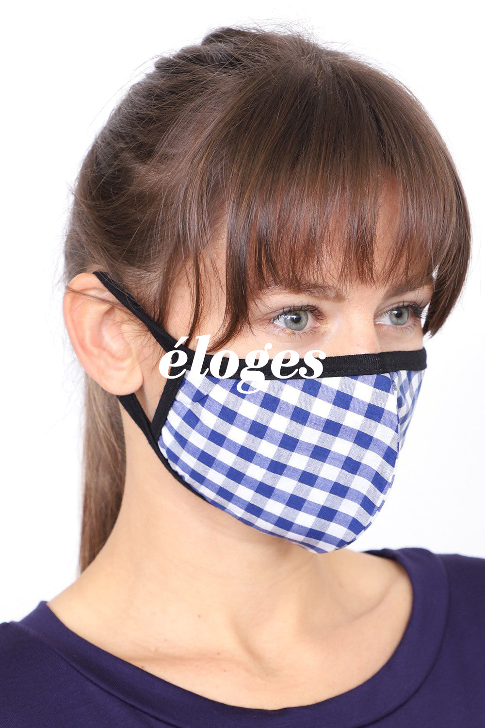 Face Mask Gingham Pack (2pcs) Made in U.S.A.