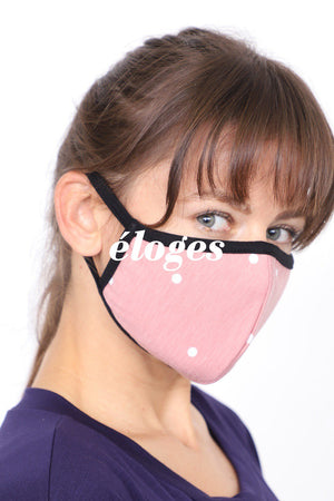 Made in U.S.A. Mask Polka Dot Pack (2pcs)/ 4 Colors