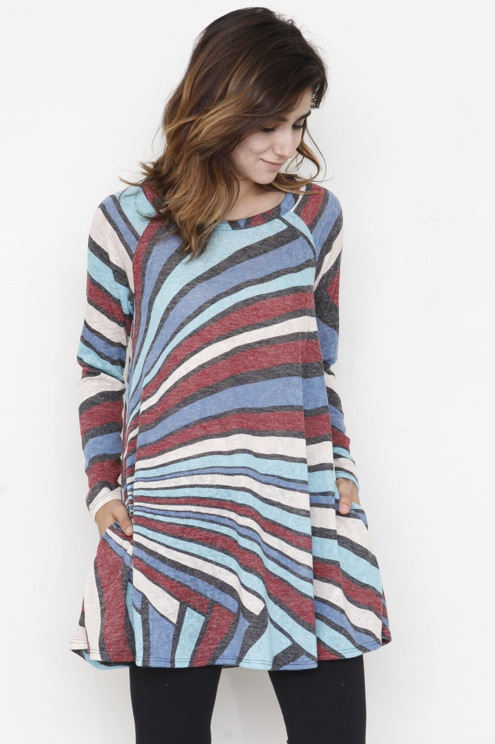 Abstract Stripe A Line Tunic