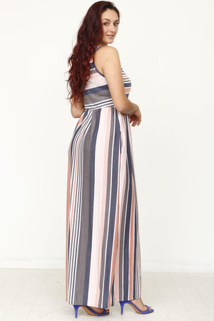 Vintage Stripe Maxi Dress_Plus
