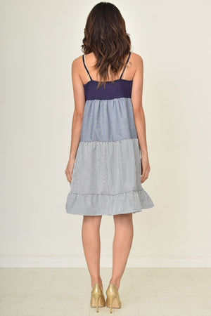 Spaghetti Strap Tiered Ruffle Dress