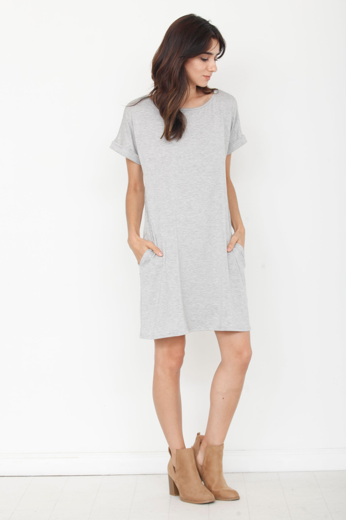 Grey Cuff Sleeve Tunic