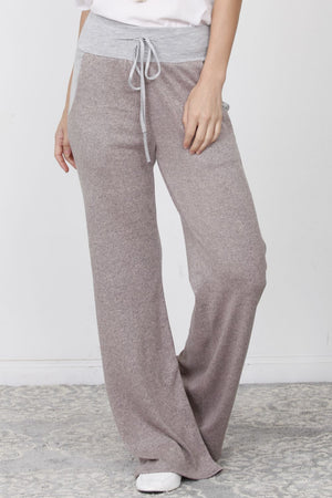 Brushed Heather Pink Wide Lounge Pants