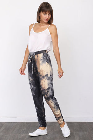 Black Rusty Tie Dye Jogger Pants_Plus