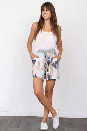 Grey Mint Tulip Shorts