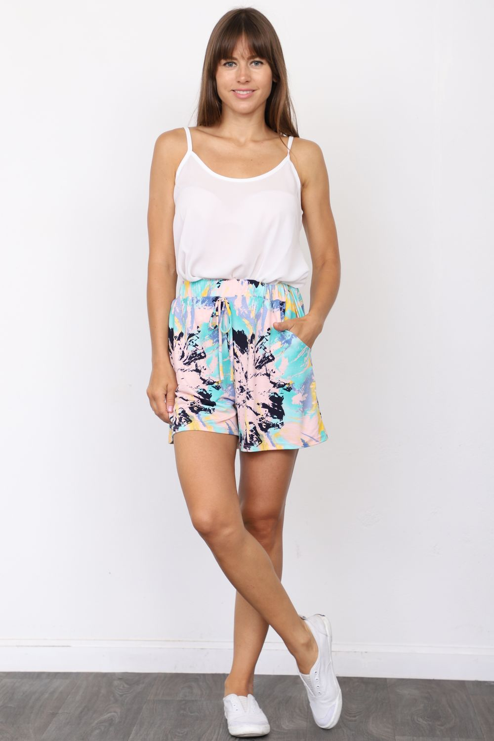 Blue Abstract Short_Plus