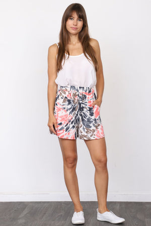 Pink Charcoal Water Color Shorts