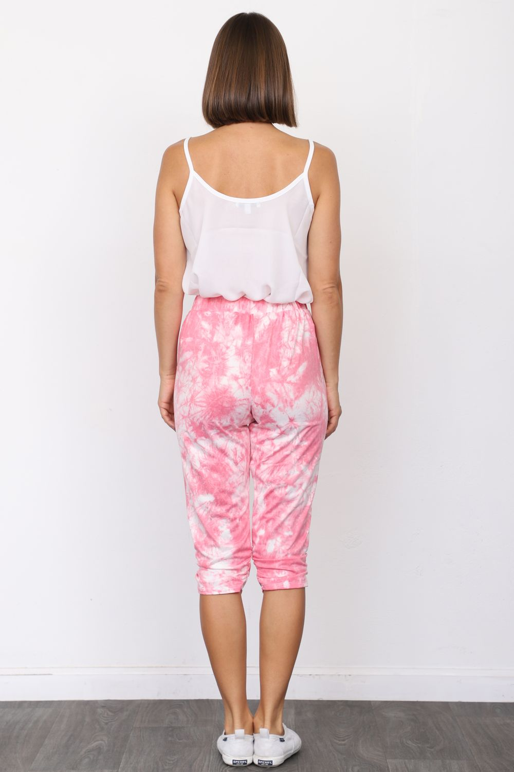 Pink Cloud Tie Dye Jogger Pants_Plus