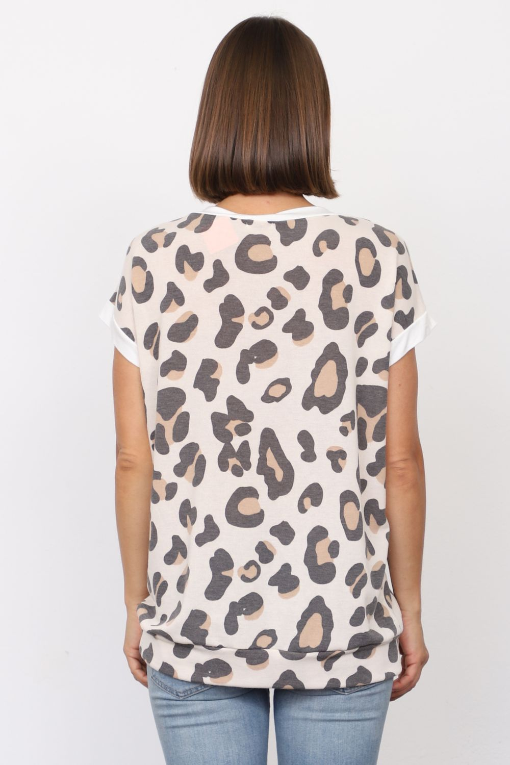 Leopard Short Sleeve Top_Plus