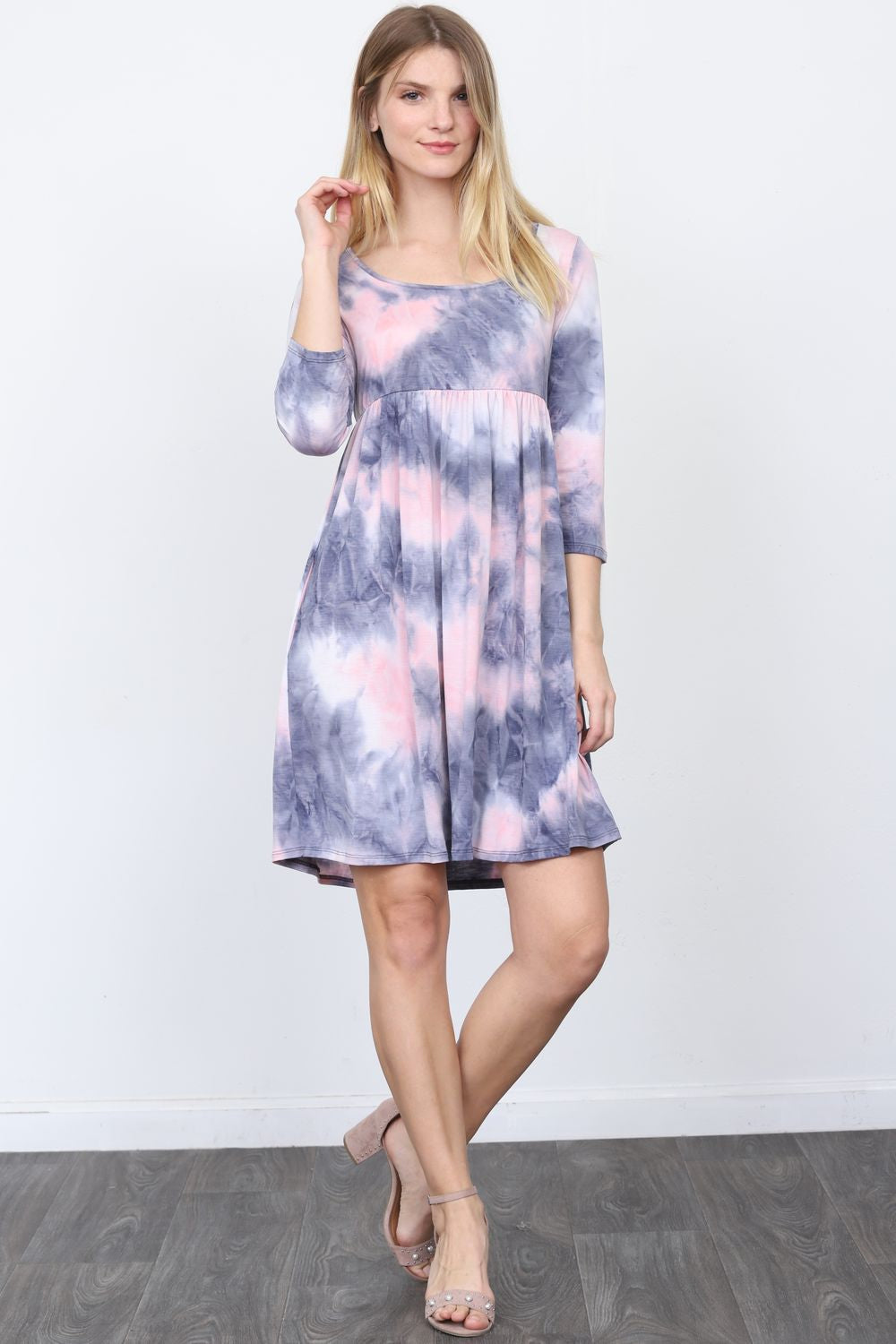 Lavender Tie-Dye Mini Dress