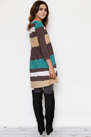 Stripe High Waist Tunic
