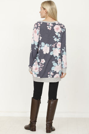 Vintage Navy Floral Tunic