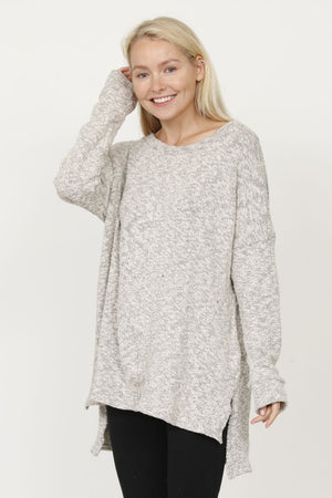 Cotton Shimmer High Low Tunic_Plus