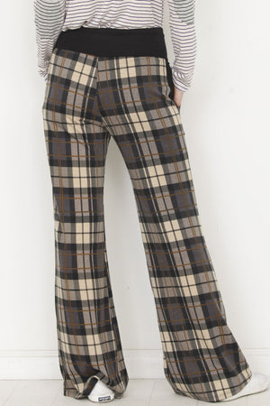 Black Band Mocha Plaid Lounge Pants