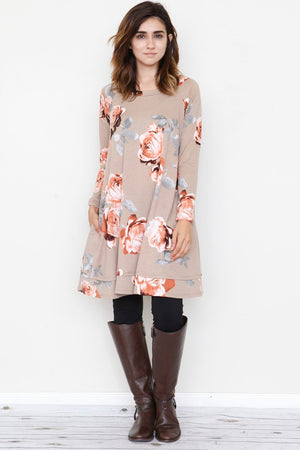 Rose Pocket A-Line Tunic