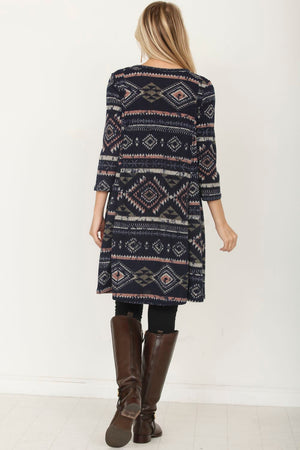 Tribal A-Line Tunic