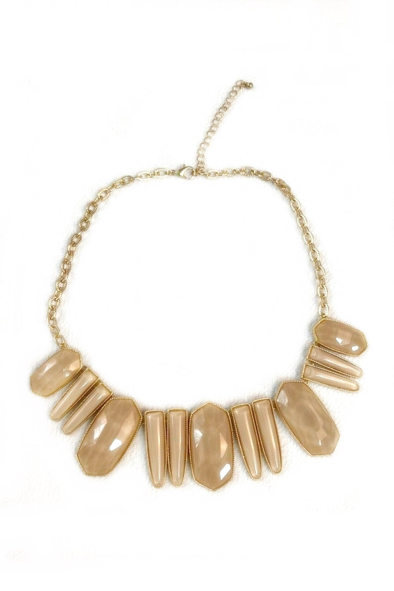 Taupe Stone Necklace