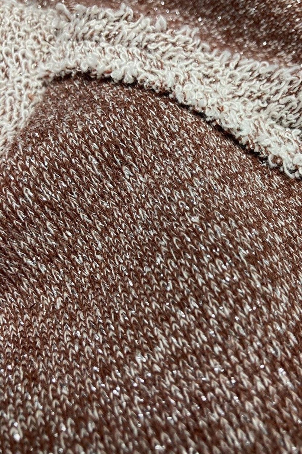 Mocha Shimmer French Terry Jogger Pants
