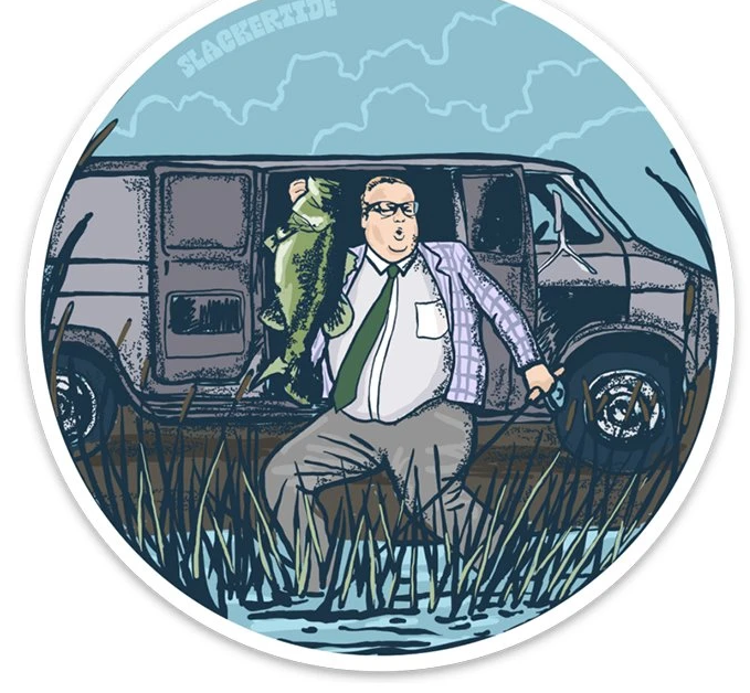 Down by the River Sticker - Slackertide