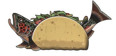 Fish Taco Sticker - Drew Wilson