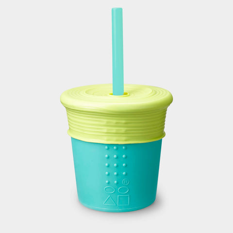 Silicone Kids Straw Cup with Stretchy Lid, 8oz