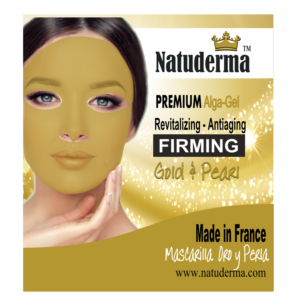 "Natuderma, FIRMING REVITALIZING, French, Premium Alginate, Peel-off,  ""Gold & Pearl"" MASK (4)"