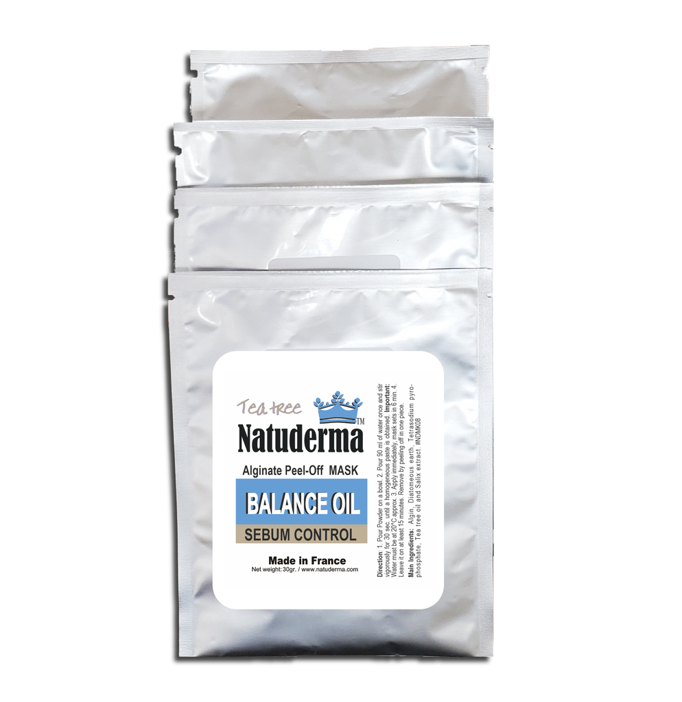 "Natuderma,  ""BALANCE OILY / SEBUM CONTROL""  Alginate French Peel-Off MASK with Tea Tree. (4)"