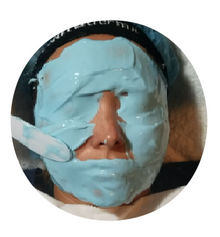 "Natuderma.""WRINKLE CARE-LIFTING "",  Premium French Alginate Peel-Off Blue Masks, ( Set of 4)."