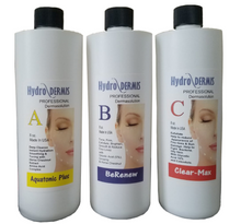 "HYDRODERMIS, ""Hydrodermabrasion Solutions"",  Hydro Serum Solutions. Set of 3."
