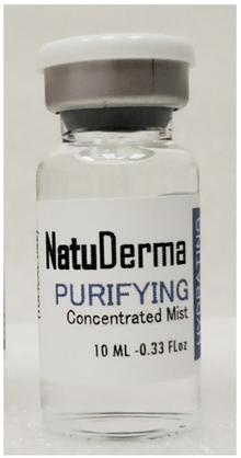 NATUDERMA Hydrating Purifying Concentrated Mist. One vial 10 ml