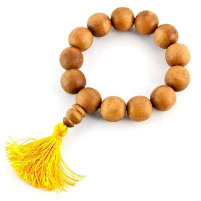 16mm Tibetan Sandalwood Fine Stretch Bracelet