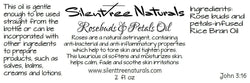 Rosebuds & Petals Oil-2 fl oz-Natural Skincare, Rose-Infused Rice Bran Oil, Natural Astringent, Moisturizes, Free Shipping