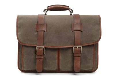 Korchmar Garfield F3005 Waxed Canvas Laptop Messenger
