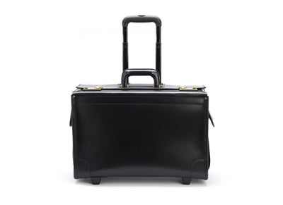 Korchmar Litigator C108420BL Leather Wheeled Catalog Case