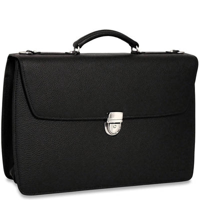 Jack Georges Soho 1402 Double Gusset Flap Over Briefcase
