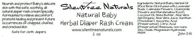 Natural Baby Herbal Diaper Rash Cream-All-Natural, Petroleum-Free, Rash, Eczema, Psoriasis, For Baby/Adults, Free Shipping
