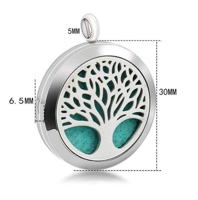 Tree of Life Diffuser Necklace with 2 Essential Oils