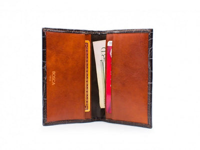 Bosca Crocco 441-187 Brown Business Card Case