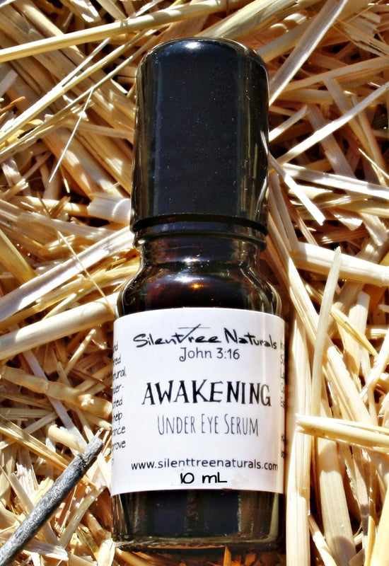 Awakening Under Eye Serum-Natural Skincare, Re-energizing Eye Serum, All-Natural Puffy Eye Reducer, Free Shipping