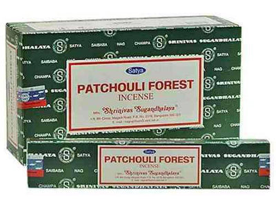 Satya Patchouli Forest Incense - 15 Gram Pack (12 Packs Per Box)