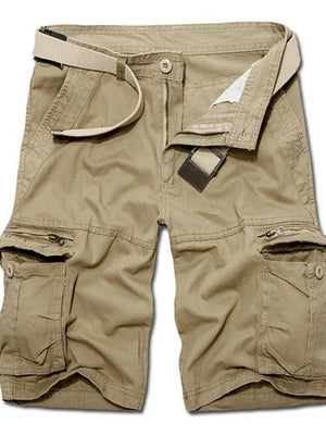 Men's Solid Colored Black Army Green Yellow Shorts