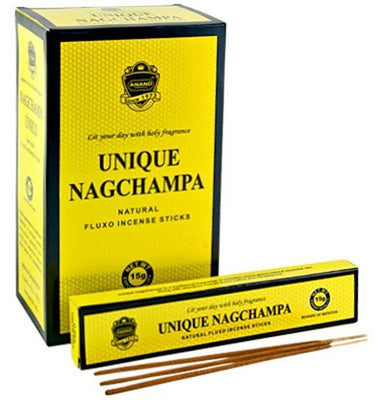 Unique Nag Champa Incense - 15 Gram Pack (12 Packs Per Box)