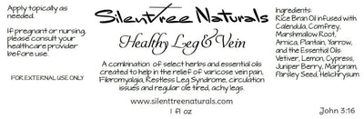 Healthy Leg & Vein-Natural Health, Varicose Vein, Restless Leg Syndrome, Fibromyalgia, Circulation Issues, Free Shipping