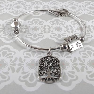 Funky Bracelet with Tree of Life Charm