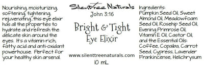 Bright & Tight Eye Elixir Eye Serum, Natural Skincare, 10 mL Rollerball, Rejuvenating, Dark Circle Reducer, Free Shipping