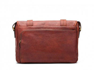 Bosca Washed 826-158 Leather Messenger Briefcase